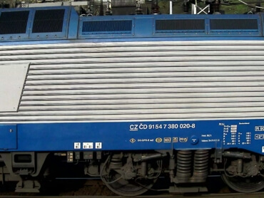 Example of successfully recognized locomotive UIC number (CZ)