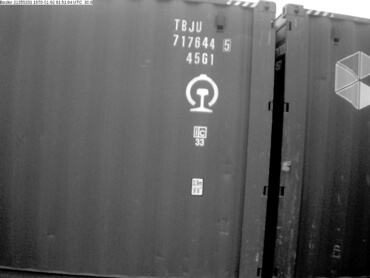 Example of successfully recognized cargo container side number